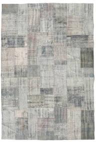 Patchwork Rug 202X301 Authentic  Modern Handknotted Light Grey/Dark Grey (Wool, Turkey)