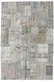 Patchwork Rug 201X300 Authentic  Modern Handknotted Light Grey/Dark Grey (Wool, Turkey)