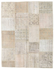 Patchwork Rug 198X253 Authentic  Modern Handknotted Light Grey/Beige (Wool, Turkey)