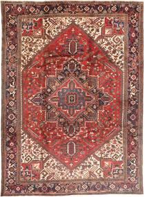 Heriz Matto 252X351 Itämainen Käsinsolmittu Vaaleanruskea/Tummanruskea Isot (Villa, Persia/Iran)