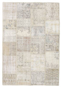 Patchwork Rug 160X234 Authentic  Modern Handknotted Light Grey (Wool, Turkey)