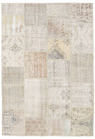 Patchwork Rug 159X231 Authentic  Modern Handknotted Light Grey/Light Brown (Wool, Turkey)