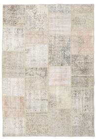 Patchwork Rug 160X230 Authentic  Modern Handknotted Light Grey/Light Brown (Wool, Turkey)