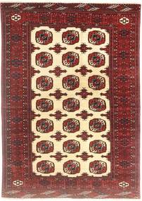Turkaman Rug 138X194 Authentic  Oriental Handknotted Brown/Beige (Wool, Persia/Iran)