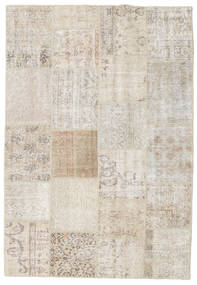 Patchwork Rug 158X230 Authentic Modern Handknotted Light Grey/Light Brown (Wool, Turkey)