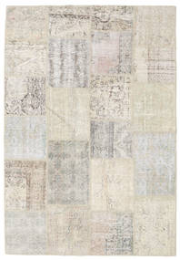 Patchwork Rug 158X230 Authentic  Modern Handknotted Light Grey/Dark Beige (Wool, Turkey)