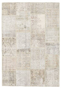Patchwork Rug 158X231 Authentic  Modern Handknotted Light Grey/Dark Beige (Wool, Turkey)