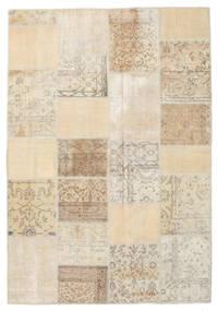Patchwork Tapis 159X230 Moderne Fait Main Marron Clair/Beige (Laine, Turquie)