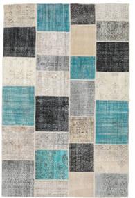 パッチワーク 絨毯 197X301 モダン 手織り 薄い灰色/ターコイズブルー (ウール, トルコ)