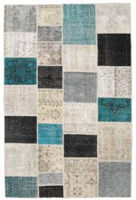Patchwork Rug 198X302 Authentic  Modern Handknotted Light Grey/Dark Blue (Wool, Turkey)