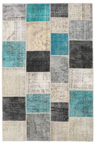 Patchwork Rug 197X302 Authentic  Modern Handknotted Light Grey/Dark Grey (Wool, Turkey)