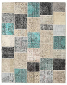 Patchwork Rug 198X252 Authentic  Modern Handknotted Light Grey/Light Brown (Wool, Turkey)