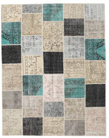 Patchwork Rug 198X252 Authentic  Modern Handknotted Light Grey/Beige (Wool, Turkey)