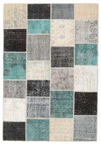 Patchwork Rug 160X232 Authentic  Modern Handknotted Dark Grey/Light Grey (Wool, Turkey)