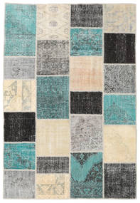 Patchwork Rug 158X233 Authentic  Modern Handknotted Dark Grey/Light Grey (Wool, Turkey)