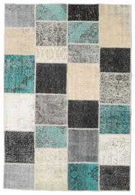Patchwork Rug 158X232 Authentic  Modern Handknotted Dark Grey/Light Grey (Wool, Turkey)