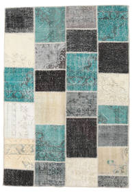 Patchwork Rug 159X231 Authentic  Modern Handknotted Beige/Turquoise Blue (Wool, Turkey)