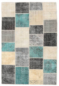Patchwork Alfombra 158X232 Moderna Hecha A Mano Beige/Gris Oscuro (Lana, Turquía)