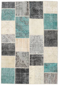 Patchwork Rug 160X233 Authentic  Modern Handknotted Light Grey/Dark Grey (Wool, Turkey)