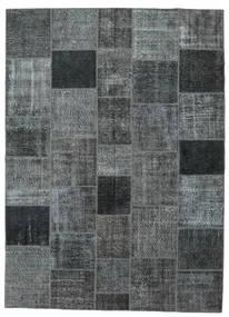 Patchwork Matto 252X347 Moderni Käsinsolmittu Sininen/Tummanharmaa/Tummanvihreä Isot (Villa, Turkki)
