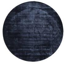 Brooklyn - Keskiyön Sininen Matto Ø 200 Moderni Pyöreä Tummansininen/Sininen ( Intia)