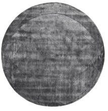 Brooklyn - Stormy Grey Rug Ø 200 Modern Round Dark Grey/Light Grey ( India)