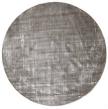 Broadway - Soft Grey Rug Ø 200 Modern Round Light Grey/Dark Grey ( India)
