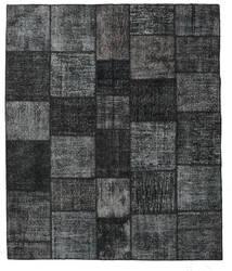Patchwork Matto 251X298 Moderni Käsinsolmittu Musta/Tummanharmaa Isot (Villa, Turkki)