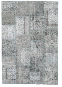 Patchwork Rug 159X232 Authentic  Modern Handknotted Light Grey/Dark Grey (Wool, Turkey)