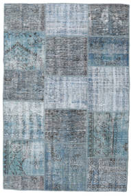 Patchwork Rug 158X235 Authentic  Modern Handknotted Blue/Light Blue (Wool, Turkey)