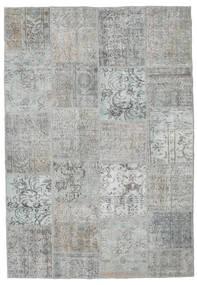 Patchwork Tappeto 160X233 Moderno Fatto A Mano Blu Turchese/Grigio Chiaro (Lana, Turchia)