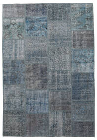 Patchwork Rug 160X232 Authentic  Modern Handknotted Dark Grey/Light Blue (Wool, Turkey)