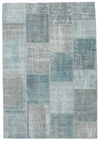 Patchwork Rug 160X232 Authentic  Modern Handknotted Light Grey/Dark Grey (Wool, Turkey)