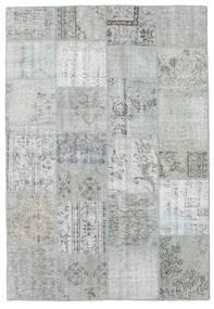 Patchwork Tappeto 160X232 Moderno Fatto A Mano Blu Turchese/Grigio Chiaro (Lana, Turchia)