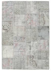 Patchwork Matto 159X232 Moderni Käsinsolmittu Vaaleanharmaa (Villa, Turkki)