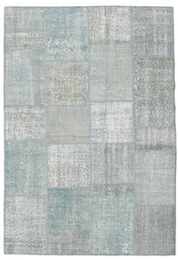 Patchwork Rug 157X232 Authentic  Modern Handknotted Light Grey/Light Blue (Wool, Turkey)