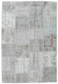 Patchwork Tapis 158X233 Moderne Fait Main Gris Clair/Beige (Laine, Turquie)