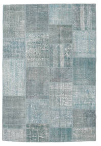 Patchwork Rug 158X234 Authentic  Modern Handknotted Light Grey/Dark Grey (Wool, Turkey)