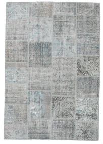 Patchwork Rug 158X231 Authentic  Modern Handknotted Light Grey/Light Blue (Wool, Turkey)