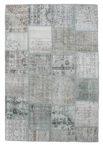 Patchwork Rug 157X233 Authentic  Modern Handknotted Light Grey/Dark Grey (Wool, Turkey)