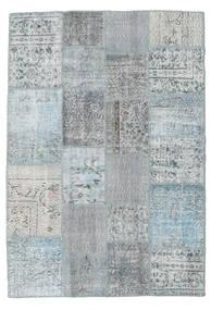 Patchwork Rug 139X201 Authentic  Modern Handknotted Light Grey/Light Blue (Wool, Turkey)