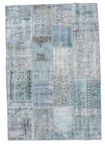 Patchwork Rug 139X201 Authentic  Modern Handknotted Light Blue/Light Grey (Wool, Turkey)