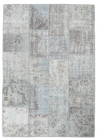 Patchwork Rug 139X201 Authentic  Modern Handknotted Light Grey/Beige (Wool, Turkey)