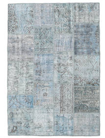 Patchwork Rug 139X202 Authentic  Modern Handknotted Light Grey/Light Blue (Wool, Turkey)