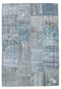 Patchwork Rug 140X205 Authentic  Modern Handknotted Light Blue/Blue (Wool, Turkey)