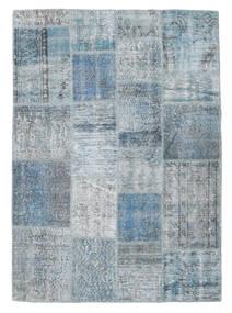 パッチワーク 絨毯 139X193 モダン 手織り 水色/薄い灰色 (ウール, トルコ)