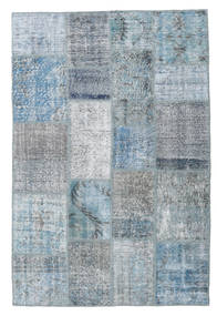 Patchwork Rug 136X204 Authentic  Modern Handknotted Light Blue/Blue (Wool, Turkey)