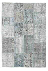 Patchwork Matto 138X206 Moderni Käsinsolmittu Vaaleanharmaa (Villa, Turkki)
