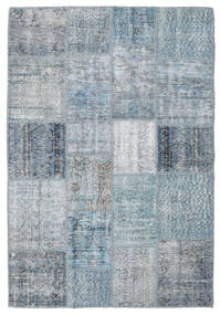 Patchwork Rug 137X201 Authentic  Modern Handknotted Light Blue/Light Grey (Wool, Turkey)