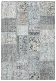 Patchwork Teppich  138X203 Echter Moderner Handgeknüpfter Hellgrau (Wolle, Türkei)